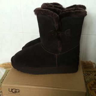 UGG Chocolate Bailey Button Boots Size 7