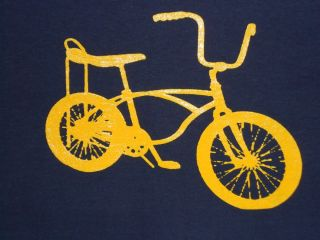 Vintage Banana Seat Bicycle T Shirt Schwinn Awesomely Funny