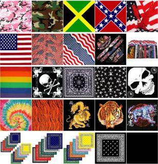 12 Lot Confederate Rebel Flag Head Bandanas Scarves New Wholesale