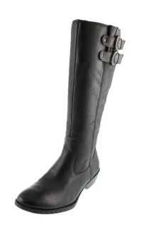 Born Concepts New Sharlene Black Belted Leather Knee High Boots
