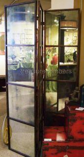 Ballard Designs Antiqued Mirrored Room Divider Screen