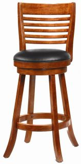 Light Cherry Finish Swivel Bar Stool Chairs by Coaster 101950 Set of 2