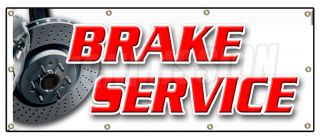 36x96 Brake Service Banner Sign Car Auto Repair Shocks Mechanic