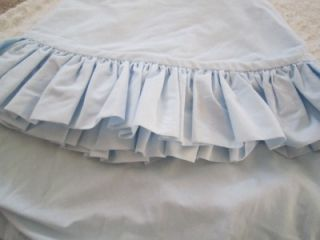 Designer Baby Blue Ruffled Round Crib Sheet Set Little Boy or Girl