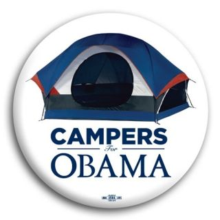 Barack Obama Official Political Button Pin Campers