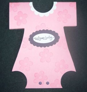 Stampin Up Handmade Greeting Card Girl Baby Onesie Lot