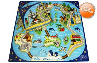 Road Trip Mat Kids Play Interlocking Infant Baby Puzzle Tiles