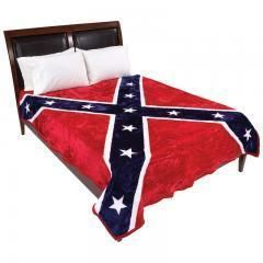 WYNDHAM HOUSE LUXURY REBEL FLAG BLANKET QUEEN KING PERFECT CHRISTMAS