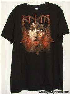 New Mens Slim Fit Bam Margera Him Heartagram Black Cotton s s T Shirt