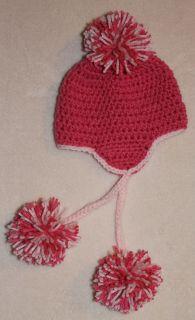 Handmade Crochet Baby Toddler Ski Hat You Choose Size