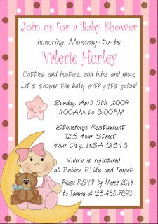 12 Personalized Baby Shower Invitations Moon Stars Cute