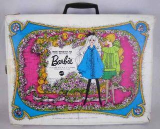 Vintage The World of Barbie Double Doll Case w Pockets Mattel 1968 13