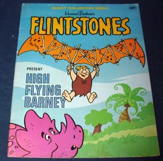 1976 HANNA BARBERA *FLINTSTONES* GIANT COLORING BOOK UNUSED UNMARKED