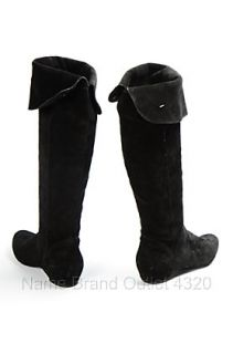 Reaction Kenneth Cole Black 8 Suede Bard Tricks Studded Grommet Boot