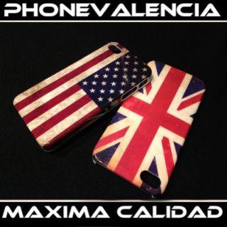 Pack 2 Fundas Carcasas iPhone 4 4S Bandera USA Y UK Somos Powerseller