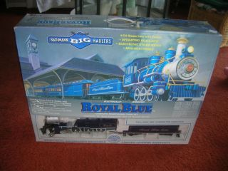 BACHMANN ROYAL BLUE BIG HAULERS G SCALE TRAIN SET 90016 LOCOMOTIVE