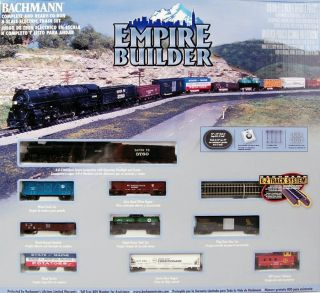 Bachmann N Scale Train Set Analog Empire Builder 24009