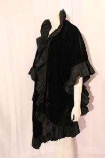 AJ Bari Kay Unger Vtg Ruffled Giant Steampunk Victorian Dress Cloak