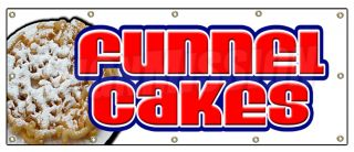 48x120 Funnel Cakes Banner Sign Cake Concessions Signs Fresh Made