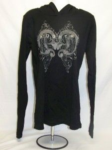 daughtry women s hooded long sleeve shirt top xl