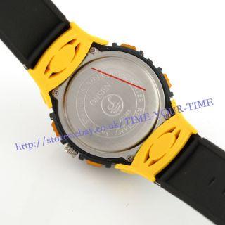 Mens Dual Time Waterproof Diver Sport Wrist Watch LED Backlight