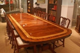 Very Large Leighton Hall Dining Table, Conference Table 13ft.