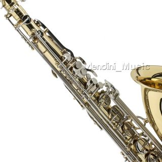 New Student Gold Nickel Tenor Saxophone Sax $39 Tuner