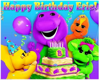 Barney Friends Edible Cake Toppers