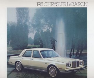 1981 Chrysler LeBaron Look Sales Brochure Book