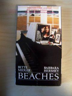 Beaches Bette Midler Barbara Hershey John Heard VHS 012257797039