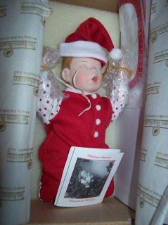ASHTON DRAKE KATHY BARRY HIPPENSTEEL DOLL CHRISTMAS DREAMER NIB W COA