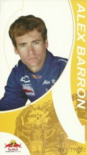2004 Alex Barron Red Bull Chevy Dallara Indy Car Postcard