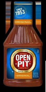 OPEN PIT * Original * BBQ Barbecue Sauce 18 oz bottle, July/2013