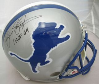 Barry Sanders Detroit Lions Autographed Signed Proline Helmet w HOF