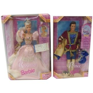 Barbie Ken Rapunzel Doll Set 1997 Mattel Special Edition Prince Dolls