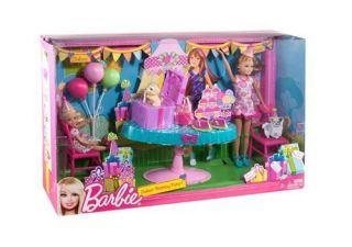 Barbie Sisters 2 Doll Set Chelsea Birthday Party w Accessories New