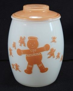 C50S Bartlett Collins Gingerbread Man Cookie Jar Glass