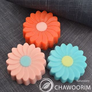 1pcs with 6CAV Silicone Soap Molds Soap Making Candle Molds