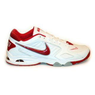 Nike Air Diamond Trainer Mens Baseball/Softball Shoes White/Red 14