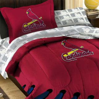 MLB St Louis Cardinals Baseball Twin Full Bedding Set Laces Comforter