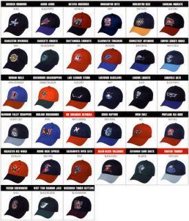 12 Minor League 3D Replica Baseball Caps Your Team