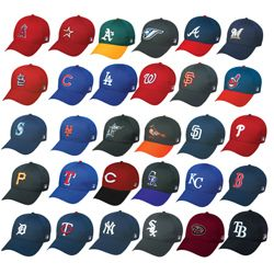 Officially Licensed MLB Baseball Caps Hats All 30 Teams
