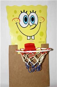 Spongebob Squarepants Wastebasket Basketball Hoop Toy New