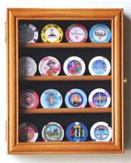 16 Casino Chips Coin Poker Display Case Holder Rack