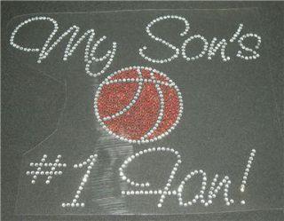 my sons 1 basketball fan rhinestone iron on bling