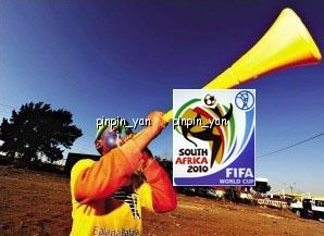 Vuvuzela horns Fans Yellow Football Sports Game Baseball Basketball