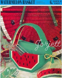 Watermelon Basket Annies Plastic Canvas Patterns