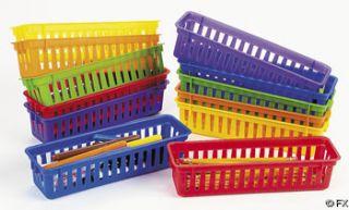 Classroom Pencil/Marker Baskets / LOT OF 6 BASKETS / TEACHER SUPPLIES