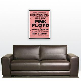 great poster advertising pink floyd playing 2 shows at the lewes