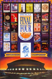 NCAA Mens Basketball FINAL FOUR 1993 Original Event Poster   North